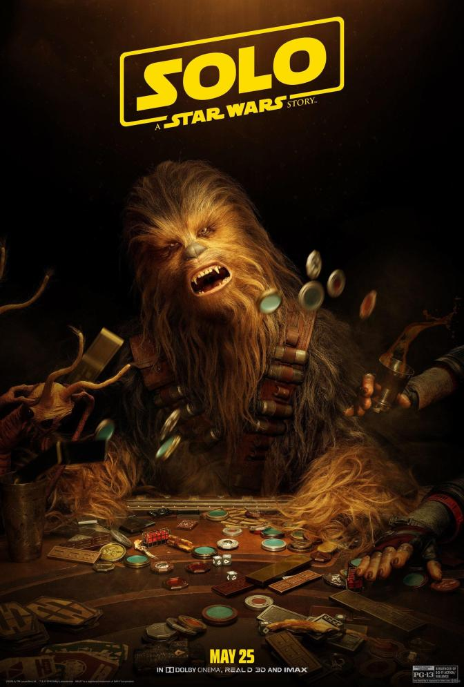 NEW Chewbacca SOLO - A Star Wars Story Character Poster
