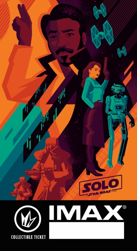 SOLO - A Star Wars Story Regal IMAX Exclusive Collectors Ticket 1