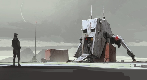The Art of Solo A Star Wars Story Concept Art - AT Hauler - No 2