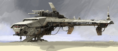 The Art of Solo A Star Wars Story Concept Art - AT Hauler - No 3
