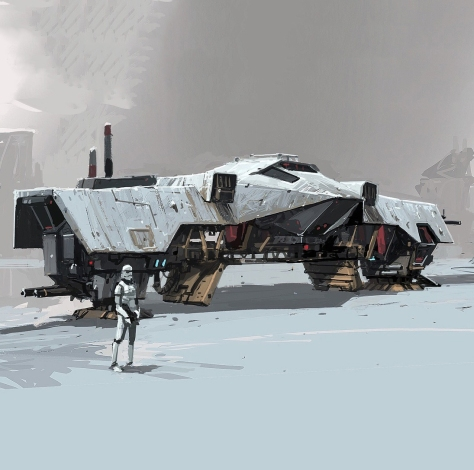 The Art of Solo A Star Wars Story Concept Art - AT Hauler - No 4