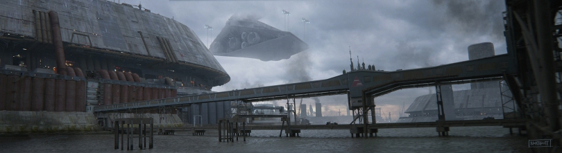 The Art of Solo A Star Wars Story Concept Art by Brett Northcutt - Corellia Spaceport No 1