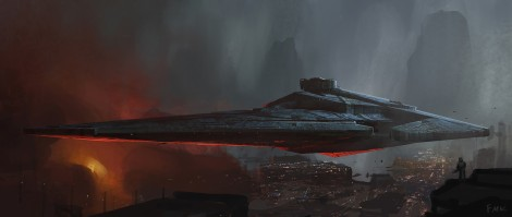 The Art of Solo A Star Wars Story Concept Art by Finnian MacManus-Bounty Hunter Space Yacht for Drydon Vos Final