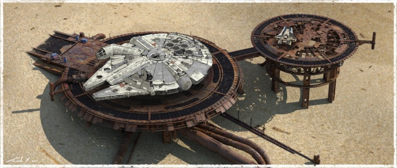 The Art of Solo A Star Wars Story Concept Art - Savareen Platform Concept