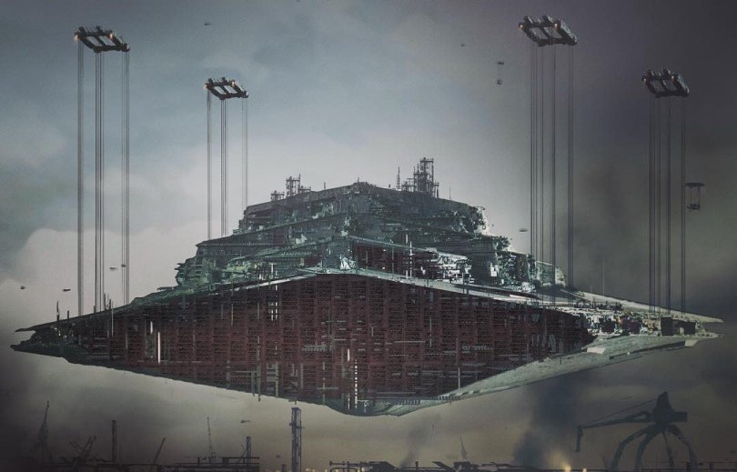 The Art of Solo A Star Wars Story Concept Art - The Art of Solo A Star Wars Story Concept Art - Corillian Star Destroyer Hauler