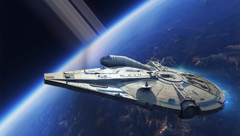 The Art of Solo A Star Wars Story Concept Art - The NEW Millennium Falcon
