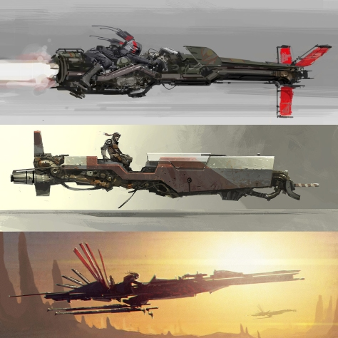 The Art of Solo A Star Wars Story Concept Art - The Train Heist
