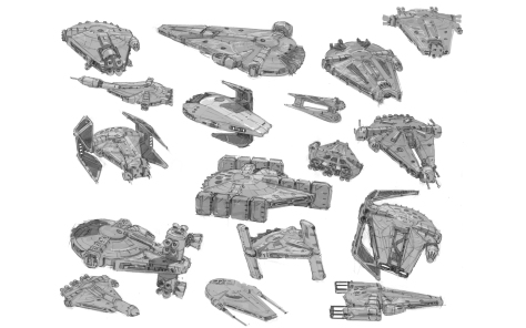 The Art of Solo A Star Wars Story Early Concept Art of the Millennium Falcon