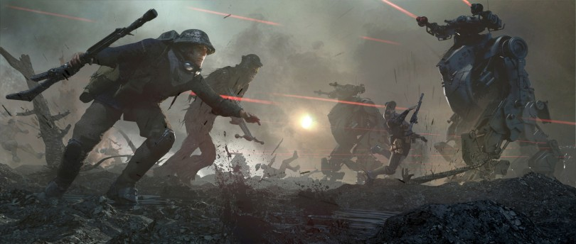 Solo A Star Wars Story Deleted Scene Concept Art - by Aaron McBride - Han and Chewie Battle of Mimban - No 2