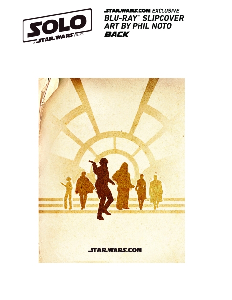 Star Wars Exclusive Solo Cover by Phil Noto Instructions Back