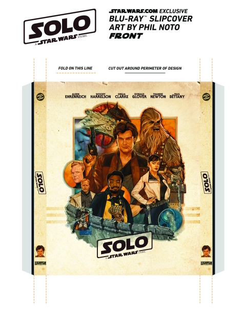 Star Wars Exclusive Solo Cover by Phil Noto Instructions Front