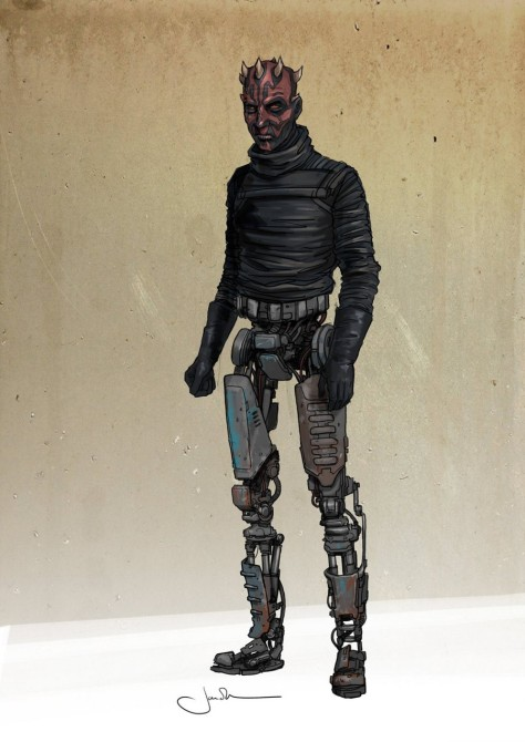 The Full Concept Art for Darth Maul in Solo A Star Wars Story