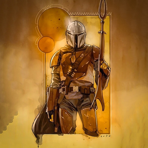 The Mandalorian Star Wars TV Series Concept Art by Phil Noto