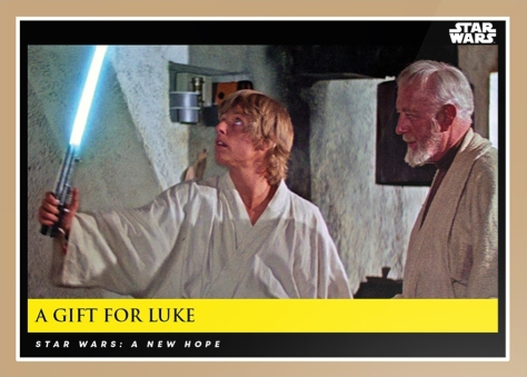 A Gift for Luke_Star Wars Galactic Moments Countdown to Episode 9 _ Card 3 Print Run _ 526