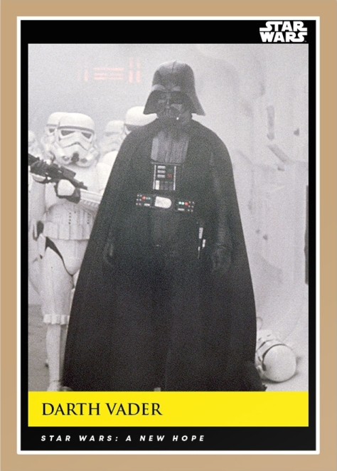 Darth Vader _ Star Wars Galactic Moments Countdown to Episode 9 _ Card 1 _ Print Run 566