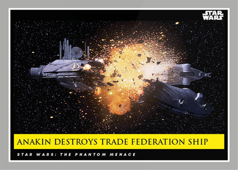 Anakin Destroys Trade Federation Ship _ Star Wars Galactic Moments Countdown to Episode 9 The Rise of Skywalker_ Week 22 Card 66