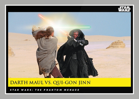Dart Maul Vs Qui-Gon Jinn _ Star Wars Galactic Moments Countdown to Episode 9 The Rise of Skywalker_ Week 21 Card 62