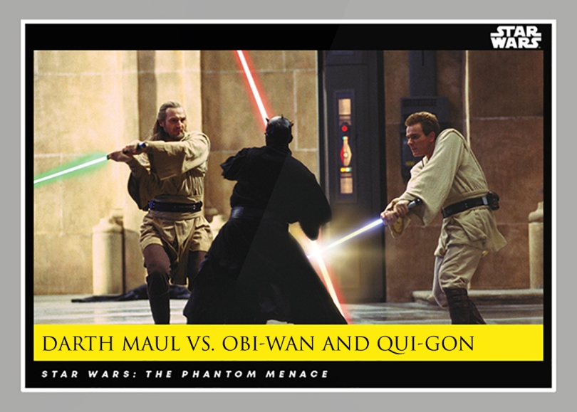 Darth Maul Vs Obi-Wan and Qui-Gon _ Star Wars Galactic Moments Countdown to Episode 9 The Rise of Skywalker_ Week 23 Card 68