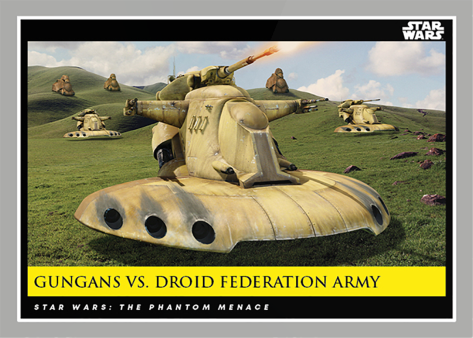 Gungans Vs Droid Federation Army _ Star Wars Galactic Moments Countdown to Episode 9 The Rise of Skywalker_ Week 22 Card 65