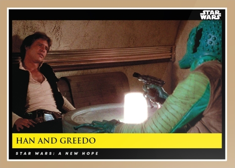 han and greedo _ star wars galactic moments countdown to episode 9 _ card 11