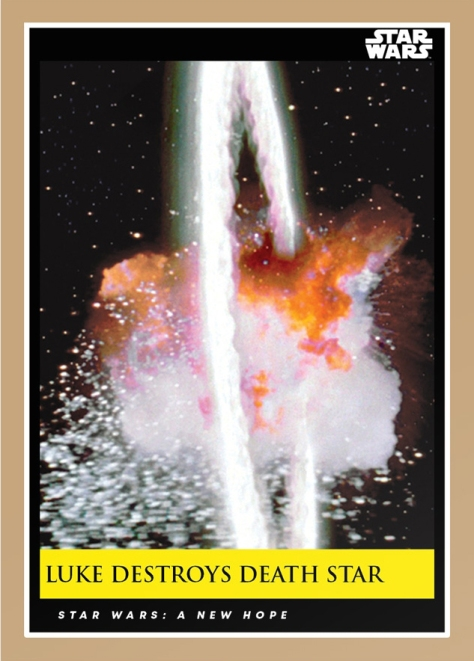 luke destroys death star _ star wars galactic moments countdown to episode 9 _ week 6 card 17