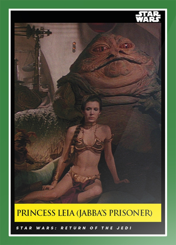 Princess Leia - Jabba's Prisoner _ Star Wars Galactic Moments Countdown to Episode 9 The Rise of Skywalker_ Week 18 Card 52