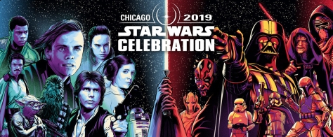 Star Wars Celebration Chicago 2019 character website banner by Paul Shipper