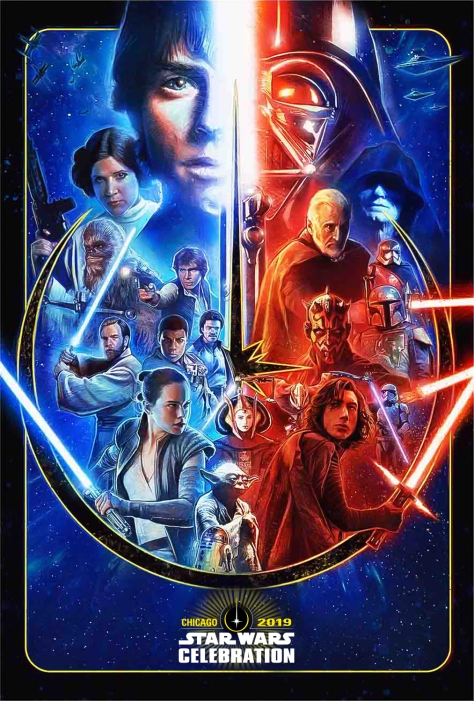 star wars celebration chicago 2019 key poster artwork by paul shipper