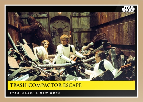 trash compactor escape _ star wars galactic moments countdown to episode 9 _ week 5 card 14
