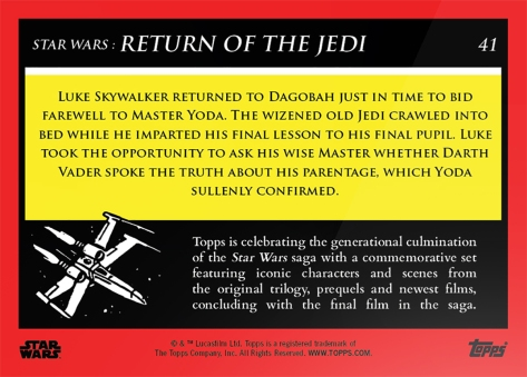 Yoda's Final Lesson _ Star Wars Galactic Moments Countdown to Episode 9 The Rise of Skywalker_ Week 14 Card 41 Back