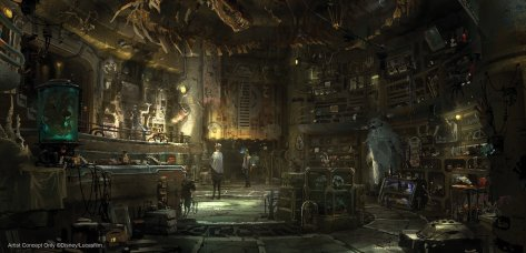 Dok-Ondars Den of Antiquities in StarWars Galaxys Edge