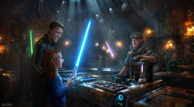 Savi's Lightsabre Workshop at Star Wars Galaxy's Edge