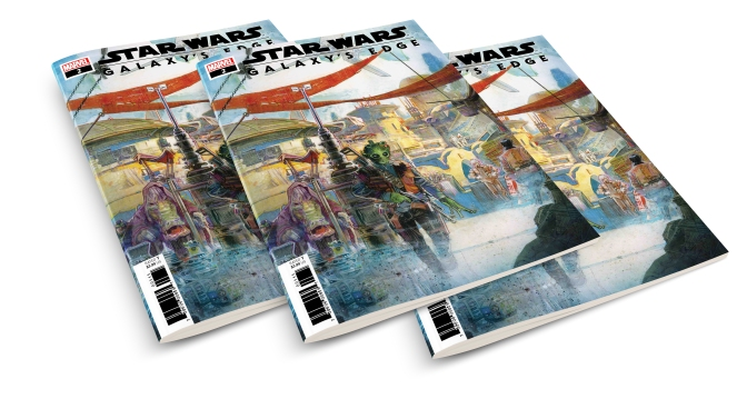 Star Wars Galaxys Edge Marvel Adaption Issue 2 Cover MockUp