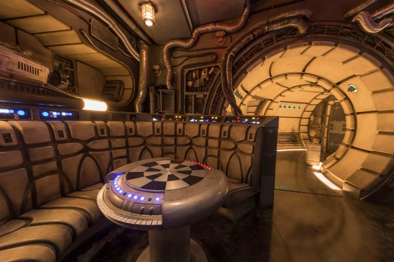 Star Wars Smugglers Run Millennium Falcon Holochess at Galaxy's Edge