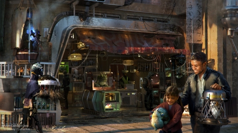 Creature Stand - Star Wars Galaxy's Edge NEW Concept Art