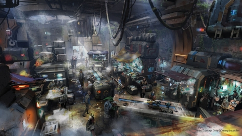 Docking Bay 7 - Star Wars Galaxy's Edge NEW Concept Art