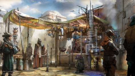 Milk Stand - Star Wars Galaxy's Edge NEW Concept Art