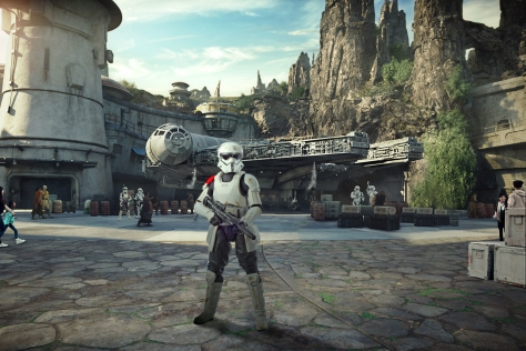 mountain trooper at star wars galaxy's edge