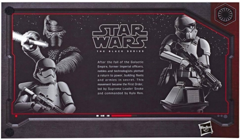 Pack Art Description for Star Wars Hasbro Black Series 6 Exclusive The First Order 4 Pack at Galaxy's Edge