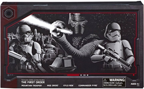 Pack Art for Star Wars Hasbro Black Series 6 Exclusive The First Order 4 Pack at Galaxy's Edge