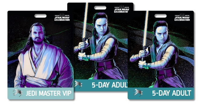 Star Wars Celebration 2019 Chicago Badge Pass Art