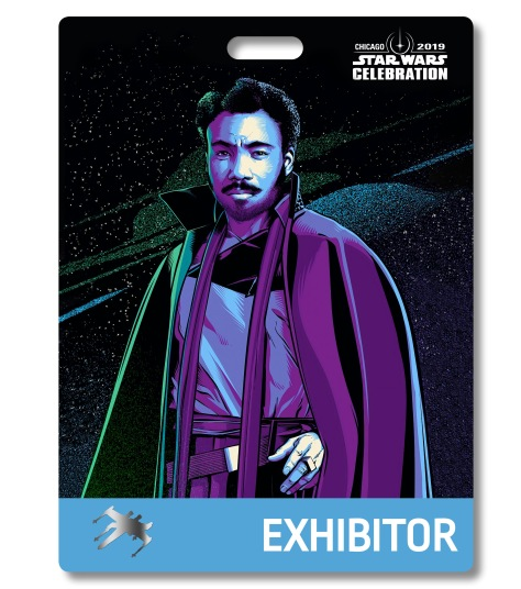 Star Wars Celebration 2019 Chicago Exhibitor Lando Calrissian Badge Pass