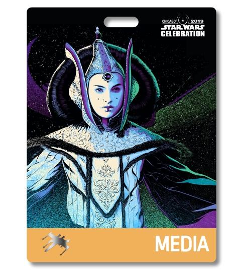 Star Wars Celebration 2019 Chicago Media Queen Amidala Badge Pass