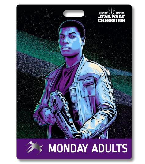 Star Wars Celebration 2019 Chicago Monday Adult Finn Badge Pass Art