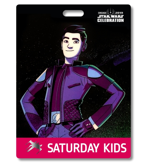 Star Wars Celebration 2019 Chicago Saturday Kids Kaz - Kazuda Xiono Badge Pass Art