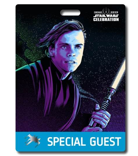 Star Wars Celebration 2019 Chicago Special Guest Luke Skywalker Badge Pass