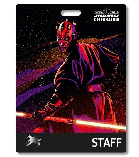 Star Wars Celebration 2019 Chicago Staff Darth Maul Badge Pass Art