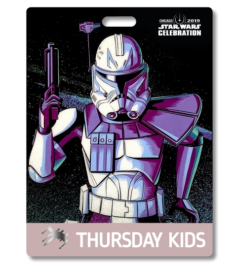 Star Wars Celebration 2019 Chicago Thursday Kids Captain Rex Badge Pass Art