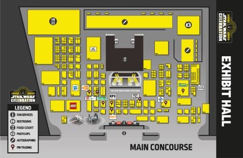 Star Wars Celebration Chicago 2019 Show Overview Map Exhibition