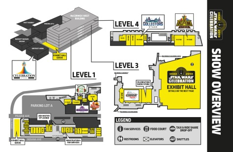 Star Wars Celebration Chicago 2019 Show Overview Map Guide